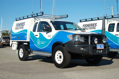 photo of Fisheries mobile patrol vehicles