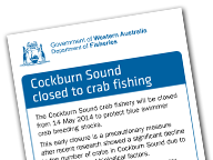 Cockburn sound closed to crab fishing leaflet